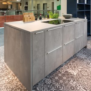 Rempp Cliff Beton Dunkel kitchen door texture