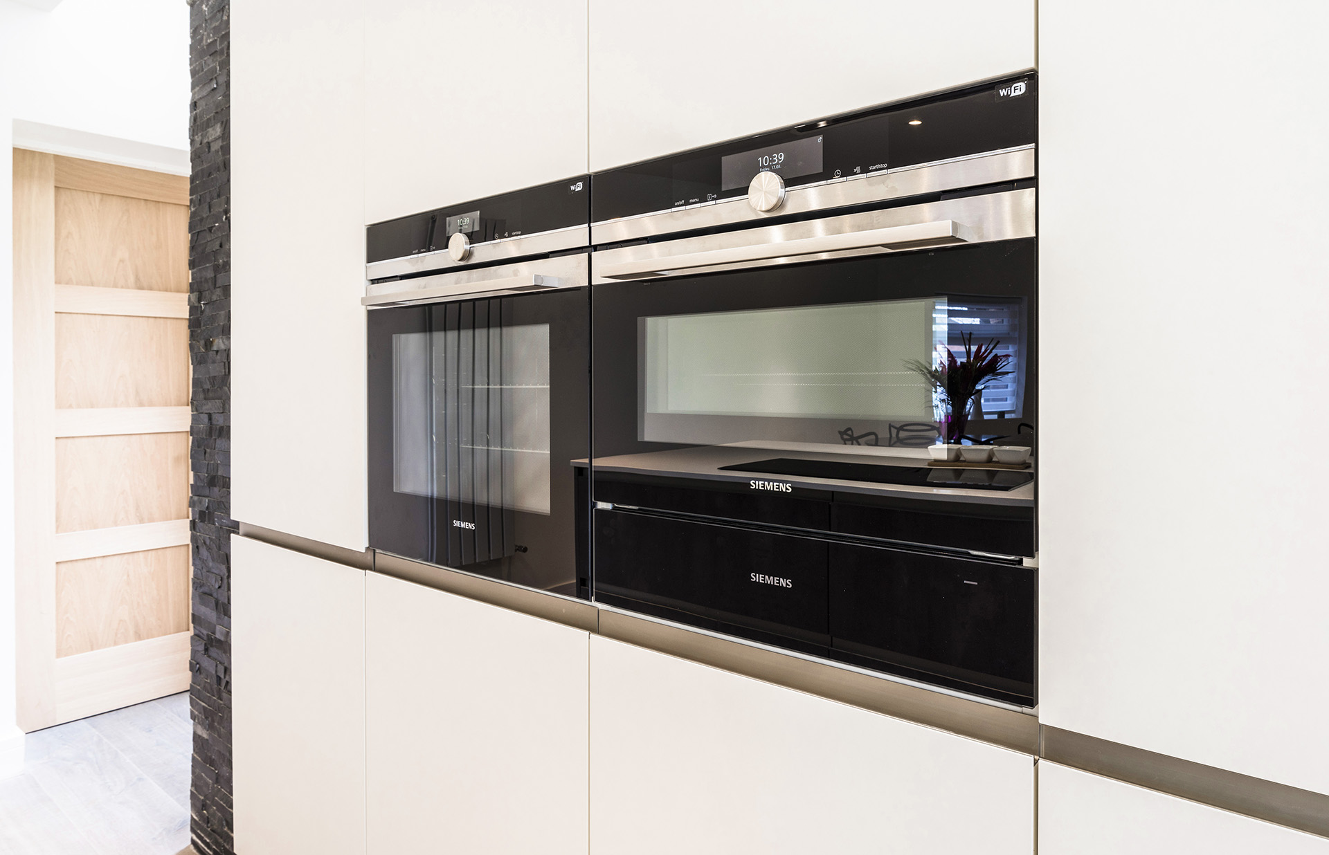 Appliance wall luxury German Kitchen installation Rempp