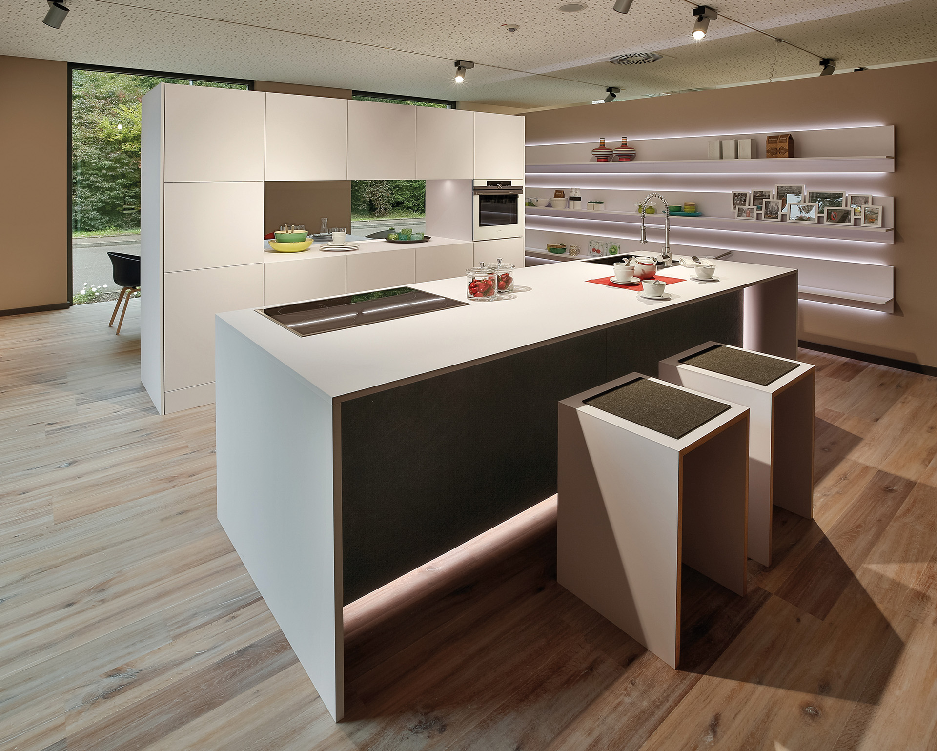 Quality modern white kitchen in cheshire